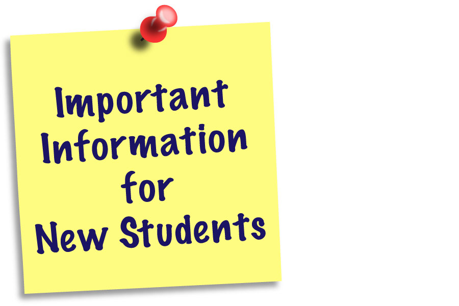 Important Information for New Students